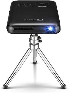AODIN スマート モバイル DLP ミニ プロジェクター 無線投影 Lightningケーブル投影 HDMI入力 日本語モデル LED光源 最大1080P対応 垂直台形補正(1G+32G 炭黒色)