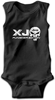 XJ Jeep Punisher Skull Baby Bodysuits Sleeveless Infant Onesuits Jumpsuit Romper Outfit