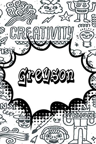 Greyson: Blank Comic Book Doodle Story Telling Journal Notebook 120 pages 6'x9'