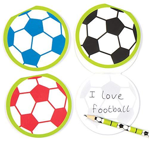 """Notizblöcke """"Fußball"""" für Kinder – perfekt als kleine Partyüberraschung für Kinder (6 Stück)"""