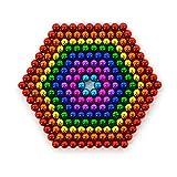 216 sfere magnetiche da 5 mm per lavagne magnetiche, frigorifero, verde, 5 mm (8 colori)