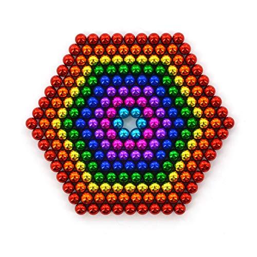 Mag-Balls muchos Colores: 216 magnético Bolas 5 mm Neodimio Super magnético instudrie magnético: NdFeB. 38, Anthrazit Glänzend (8 colores)