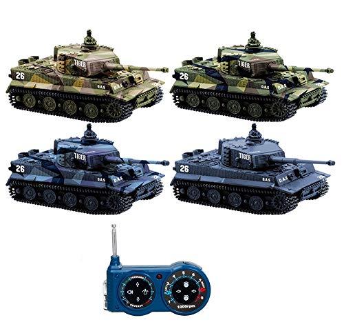 sgile 1: 72MINI RC Panzer mit Fernbedienung Deutscher Tiger Panzer Panzerkampfwagen sortiert Farbe