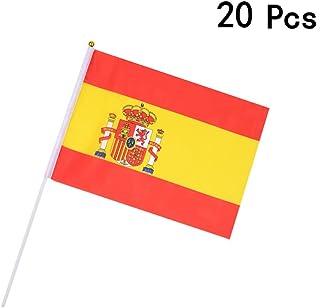 Georgie Porgy Banderas de Mano Nacionales Juegos Olímpicos Evento Fútbol (20 PCS Small Flag ES)