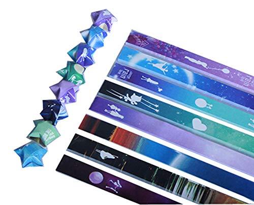 East Utopia 560 Hojas Origami Papel Lucky Wish Stars Papel Conjuntos Regalos significativos