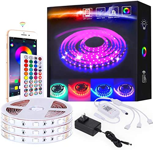 50ftLed Strip Lights 450 Dense Light Sources Bluetooth led Strip Light Sync with Music Controlled product image