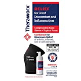 Theraworx Relief Joint Discomfort & Inflammation Foam + 1 Compression Knee Sleeve + 3.4oz Foam (Large/XL)