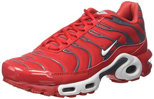Nike Air Max Plus, Scarpe da Ginnastica Uomo, Rosso (University Red/Pure Platinum/Dark Grey), 40 EU