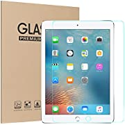 Ztotop Screen Protector for New iPad 9.7 inch (2018/2017) 9H Tempered Glass Screen Protector,High Definition/Scratch Resistant/Anti-Fingerprint,for iPad Air/Air 2,iPad Pro 9.7-Inch