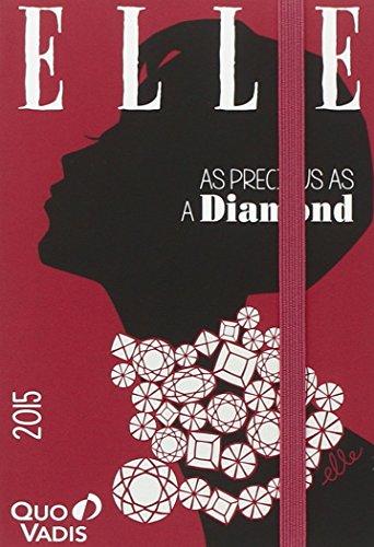 Geschäftbus Affaires Prestige Mehrsprachig 2015, Elle Diamanten mit Gummiverschluss: 1 Woche auf 2 Seiten, mit Faltkalender BUS, 13 Monate: Dezember bis Dezember, von 7.00 Uhr bis 21.00 Uhr
