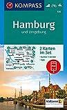 KOMPASS Wanderkarte Hamburg und Umgebung: 2 Wanderkarten 1:50000 im Set inklusive Karte zur offline Verwendung in der KOMPASS-App. Fahrradfahren. Reiten. (KOMPASS-Wanderkarten, Band 725)