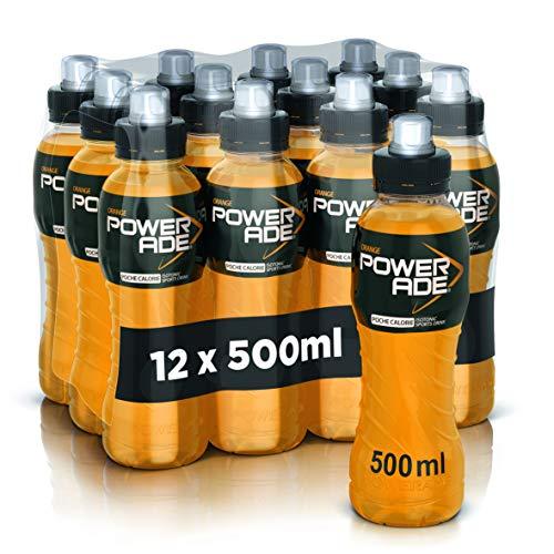 Powerade Orange 0,50 l x 12 bouteilles. Bouchon sport