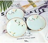 BJLWTQ Plato de porcelana de 8 pulgadas de cerámica plato creativo chino de arroz placa de cena irregular placa de horno microondas platos de cena conjuntos de cena,