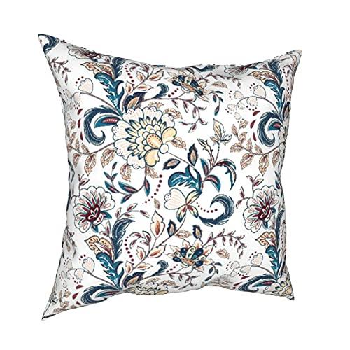 """Federa per cuscino con stampa 3D,fiori vintage sfondo senza soluzione di continuità stile provenzale,federa moderna per divano,letto,set per auto,decorazioni per la casa,18""""x 18"""" in,federe,1pz"""