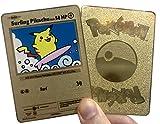 Surfing Pikachu Custom Metal Pokemon Card
