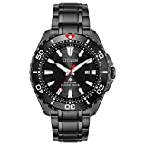 Citizen Promaster Diver BN0195-54E Reloj de buceo Eco-Drive de acero inoxidable negro