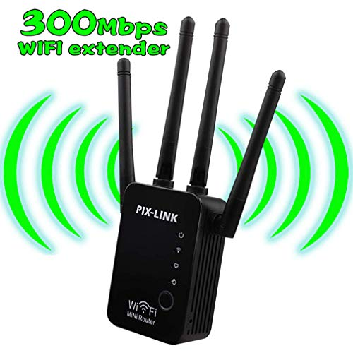 DYXT Router inalámbrico WiFi Extender Booster inalámbrico a Internet WiFi Extensor de Rango 300Mbps Mini Amplificador de señal de Alta Velocidad de Largo Alcance para Cubrir una Gama más Amplia