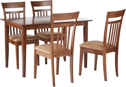 Coaster CO-150430 5 Pc Dining Set, Chestnut