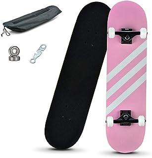XLY Skateboard Completo, 31x8 Pro Skate Board 8 Capas de Mad