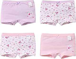 4af9463cda314 Snyemio Panty Filles Lot de 4 Shorty Culotte sous-Vêtements Coton Boxer Slip  Enfants Pantalon
