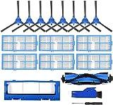 LYDPT Accesorios de aspiradora Piezas de Repuesto Accesorios Kit Rolleer Cepillo HEPA Filtros para Needy R3500 R3500S R550 R650 R700 Aspirador de Robot