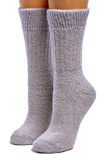 Warrior Alpaca Socks - Women's Toasty Toes Ultimate Alpaca Socks (Large, Blue Heather)