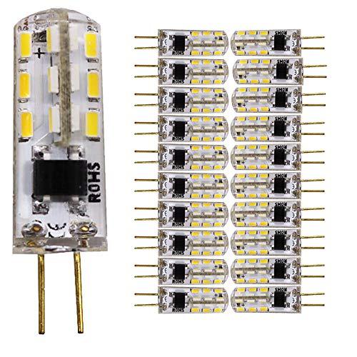 20 pezzi G4 1.5 Walt LED Risparmio Energetico Lampada (AC 220V, 120 Lumen) Equivalente a 15W Lampada Alogena Bianco Caldo 3200K (AC 220 Volt)