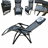 Amaze Folding Zero Gravity Recliner Push Back Easy Relax Portable Outdoor Indoor Sea Beach Swimming Pool Garden Farm House Sun Bed Lounger Chair - 02 CK (Extra Wide)