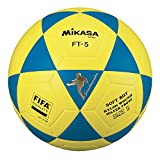 MIKASA Balón de fútbol Unisex, Color Azul y Amarillo, Talla 5