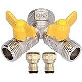 Les-Theresa Y-Form-Ventilanschluss-Schlauchteiler mit Nippeladapter für Gartenbewässerungszubehör
