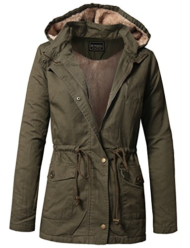 NE PEOPLE Womens Military Anorak Jacket in Various Styles