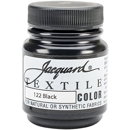 Jacquard Products TEXTILE-1122 Textile Color Fabric Paint, 2.25-Ounce, Black