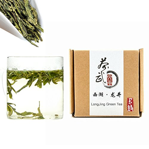 Cha Wu-[B] LongJing Green Tea,3.5oz/100g,Chinese Dragon Well Green Tea Loose Leaf