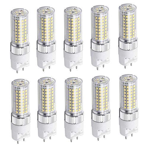 YQGOO Paquete de 10 Bombillas LED G12, 6 W 600 LM, Blanco cálido E27, Base de Tornillo, Bombilla de filamento LED, no Regulable Edison Glow [Clase energética A ++]