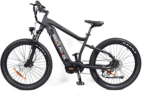Breeze Power Electric Bike Mid Drive Motor, Electric Bicycle 26 inch, Premium BAFANG Ultra Mid Motor with Removable Lithium Battery, Shimano 8 Speed with LCD Display Featuring 5 Speed Options