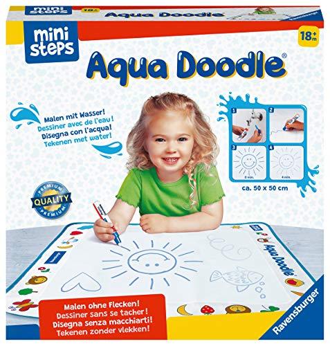 Ravensburger ministeps 4178 Aqua Doodle - Erstes Malen für Kinder ab 18 Monate, Malset für fleckenfreien Malspaß mit Wasser, inklusive Matte und Stift