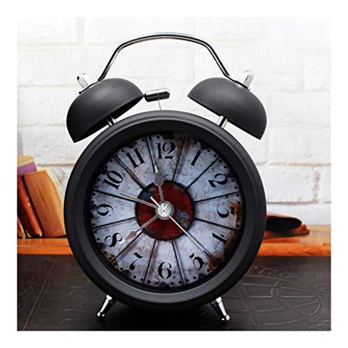 Twin Bell Alarm Clock Amerikaanse Creative Vintage Quartz Clock Kids Student Bedside Night Light Time Clock huis Slaapkamer Nostalgia Silent Clock Stil Ontwerp