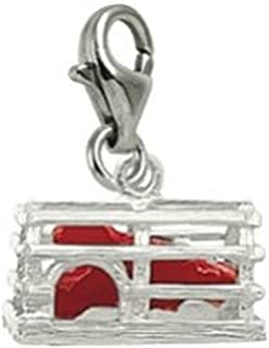 Charms for Bracelets and Necklaces Maryland Charm With Lobster Claw Clasp