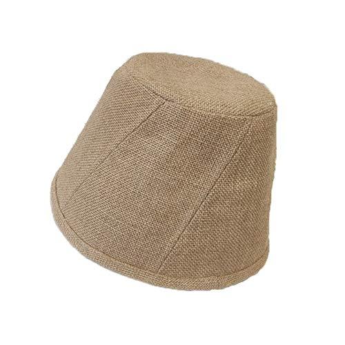 Gorras de mujer Ocio al aire libre sombrero - primavera, verano y otoño del sombrero, color puro del sombrero del cubo, Nueva Mujer neto Rojos Lacio pescador sombrero, sombrero de lino Cuenca Protecto