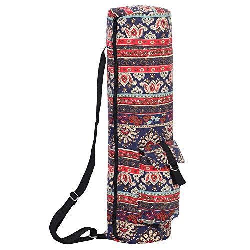 Fdit Bolsa para colchonetas de Yoga, Bolsa de Transporte para colchonetas de Yoga con Cremallera de Lona Multifuncional con Bolsillos de Almacenamiento para Mujeres y Hombres