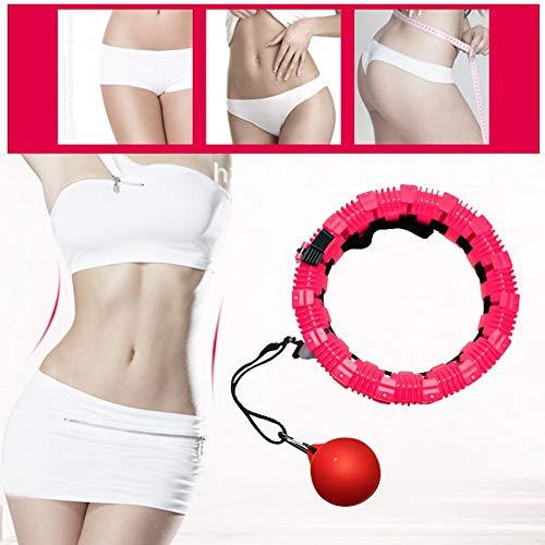 Aros liberales de hula que no se pueden colocar ajustables para principiantes Pérdida de peso de cintura delgada Fitness desmontable Entrenamiento de cintura delgada de color rosa