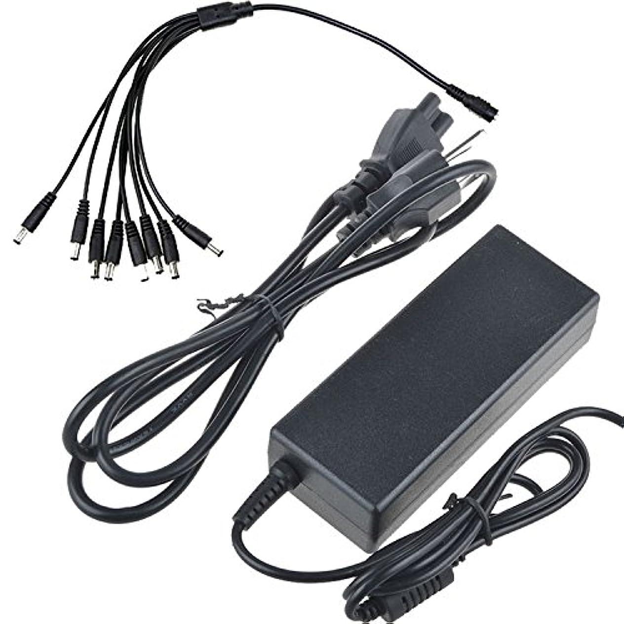 苦スクラップブック給料デジパーツパワーto 8スプリッタConncetor 12?V 7000?mA電源+ 8splitter ACアダプタPowser Supply for secuirty CCTVカメラDVR