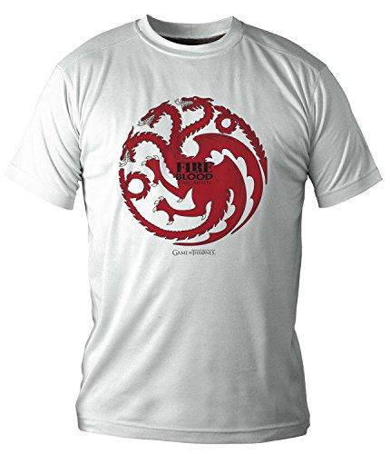 (NEX) Targaryen T-SHIRT GARÇON BLANC XL JEU DE THRONES