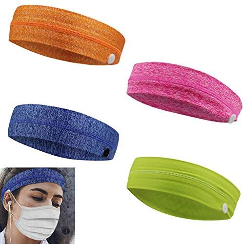 Elastische elastische bandana, hoofdband met knop voor verpleegkundigen Dames Heren Yoga Sport Workout Tulband Headwrap