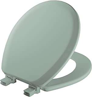 MAYFAIR Toilet Seat will Never Loosen and Easily Remove, ROUND, Durable Enameled Wood, Seafoam, 41EC 455