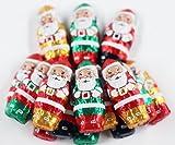 Scott's Cakes Foil Wrapped Solid Milk Chocolate 2' Cute Santas in a 1 Pound Plastic Deli Container