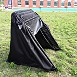 TECHTONGDA Heavy Duty Motorcycle Storage Garage Shelter Shed Cover Blcak Tent Portable Motorcycle Tent Sheds (M/11.34.46.2')