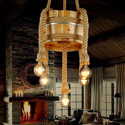 CHENJUNAMZ Bañera Retro País Living Bar Bar Estilo Industrial Restaurante Granja de la lámpara