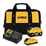 DCB246CK 20-Volt MAX XR Lithium-Ion Starter Kit with (1) 6.0Ah Battery, (1) 4.0Ah Battery, Charger and Kit Bag