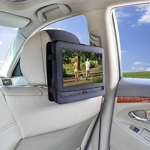 Auto Kopfstützenhalterung für 9 Zoll DVD-Player mit Neigungs- und Schwenkfunktion Kfz Halterung Kopfstütze - von TFY